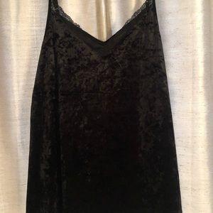 Torrid Brand Black Velvet Lace Trimmed Cami